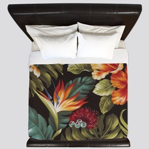 Hawaiian flowers King Duvet