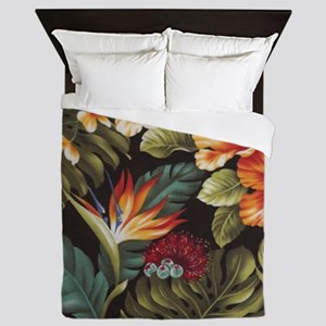 Hawaiian flowers Queen Duvet