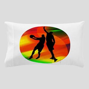 Basketball Duo Bright Court Lights Pillow Case