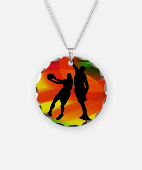 Basketball Duo Bright Court Necklace