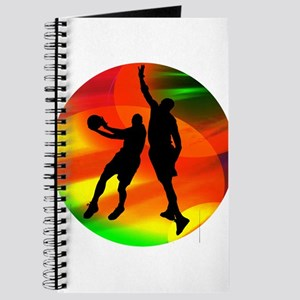 Basketball Duo Bright Court Lights Journal