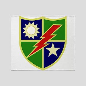 75th Ranger Regiment Throw Blanket