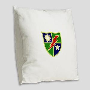 75th Ranger Regiment Burlap Throw Pillow