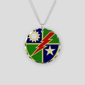 75th Ranger Regiment Necklace Circle Charm