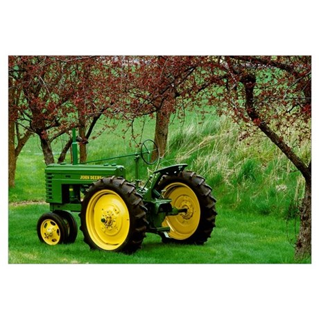 Restored 1940 John Deere Model Tractor Wall Decal