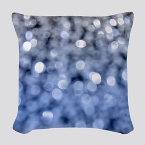 Sparks - Blue And Silver Woven Throw Pillow