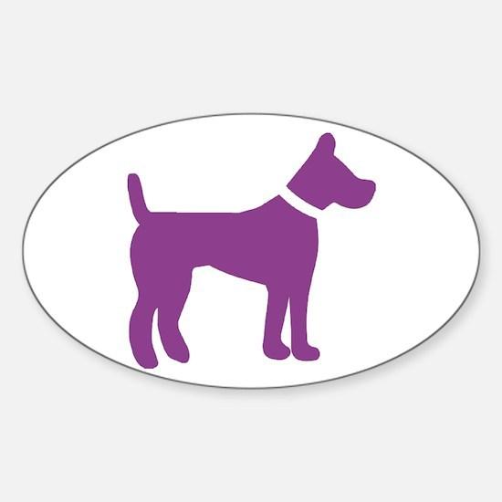 dog purple 1C Decal