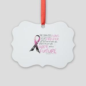 breast cancer survivor Picture Ornament