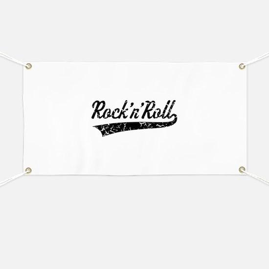 Rock 'n' Roll Vintage (Black) Banner