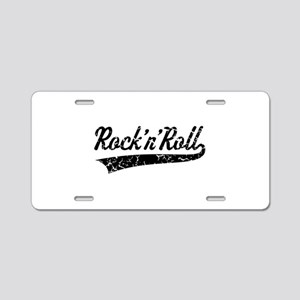Rock 'n' Roll Vintage (Blac Aluminum License Plate