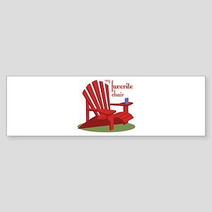 Favorite Chair Bumper Sticker