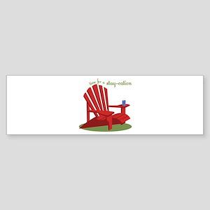 Stay-cation Bumper Sticker