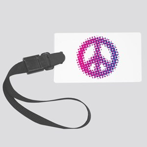 Halftone Peace Symbol Large Luggage Tag