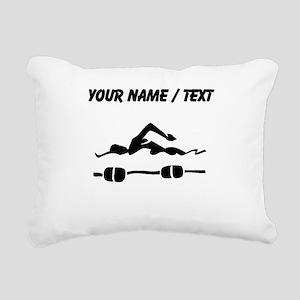 Custom Swimmer Rectangular Canvas Pillow