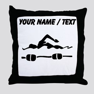 Custom Swimmer Throw Pillow