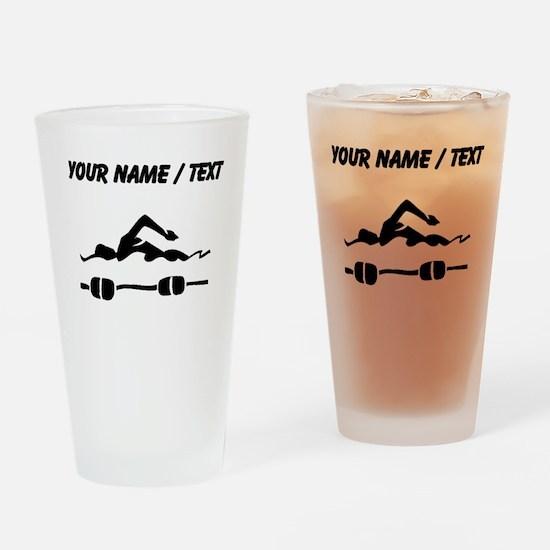 Custom Swimmer Drinking Glass