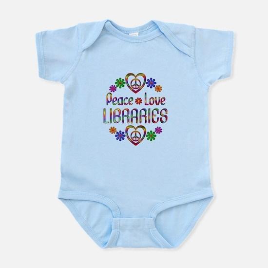 Peace Love Libraries Infant Bodysuit