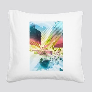 Silver Lining Square Canvas Pillow