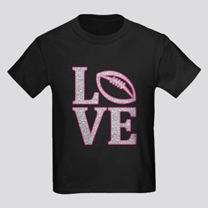 LOVE FOOTBALL GLITTER PINK T-Shirt
