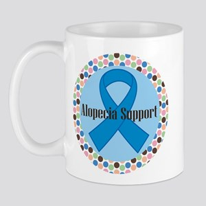 Alopecia Awareness Ribbon Logo Mugs