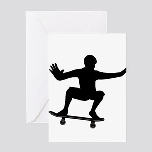 THE SKATEBOARDER Greeting Cards