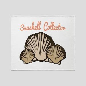 Seashell Collector Throw Blanket