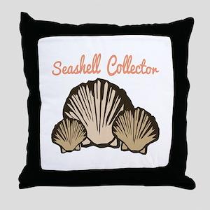 Seashell Collector Throw Pillow