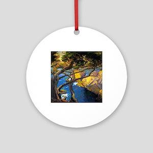 Trees Monterey Art Ornament (Round)