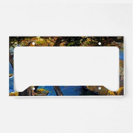 Trees Monterey Art License Plate Holder