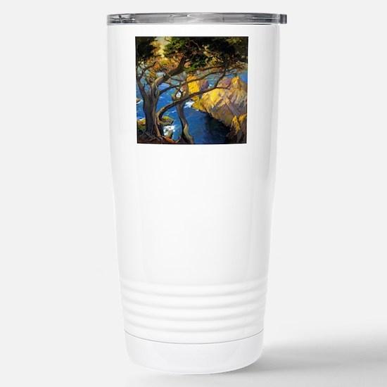 Trees Monterey Art Travel Mug