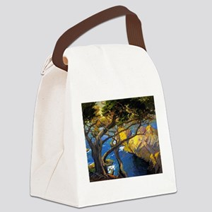 Trees Monterey Art Canvas Lunch Bag