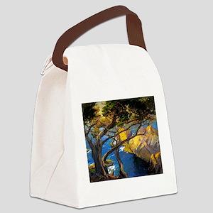 Trees Monterey Art Canvas Lunch Bag