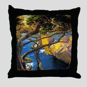Trees Monterey Art Throw Pillow