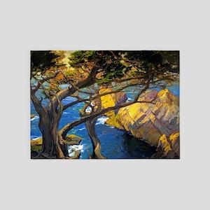 Trees Monterey Art 5'x7'Area Rug