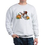 Irish Red White Setter Autumn Sweatshirt