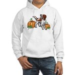 Irish Red White Setter Autumn Hooded Sweatshirt