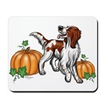 Irish Red White Setter Autumn Mousepad