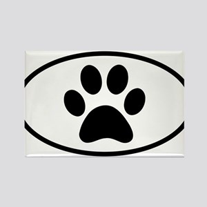 Paw Print Euro Oval Magnets