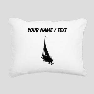 Custom Sail Boat Silhouette Rectangular Canvas Pil