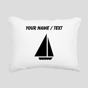 Custom Sail Boat Rectangular Canvas Pillow