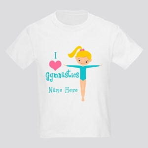 Teal Gymnast Kids Light T-Shirt