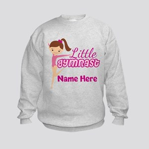 Pink Gymnast Kids Sweatshirt