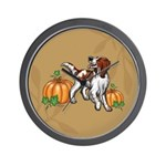 Irish Red White Setter Autumn Wall Clock
