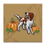 Irish Red White Setter Autumn Tile Coaster