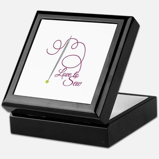 Love To Sew Keepsake Box