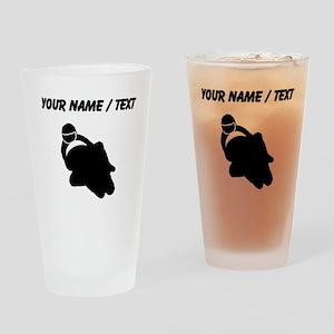 Custom Motorcycle Racing Drinking Glass