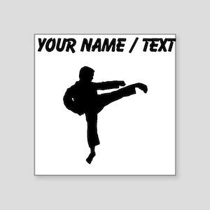 Custom Karate Kick Silhouette Sticker