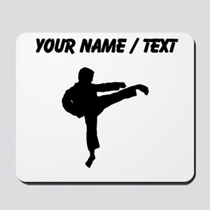 Custom Karate Kick Silhouette Mousepad