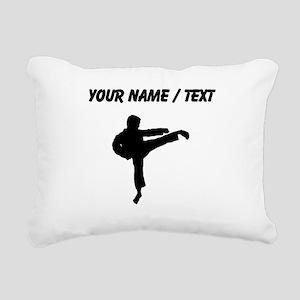 Custom Karate Kick Silhouette Rectangular Canvas P