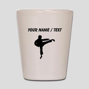 Custom Karate Kick Silhouette Shot Glass
